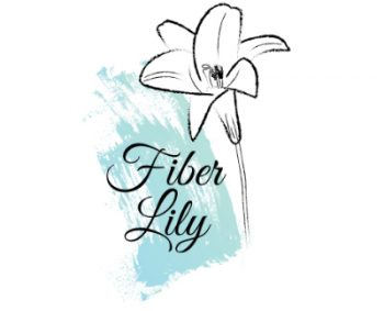 Fiber Lily logo hand made and hand dyed yarn