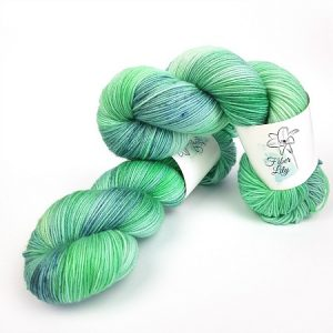 Diamond Isle by Fiber Lily hand dyed yarn Australia aqua blue luminance tonal colourway 3