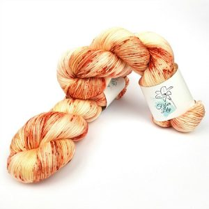 Hush creamy apricot speckled hand dyed yarn by Fiber Lily Australia knitting crochet wool 1