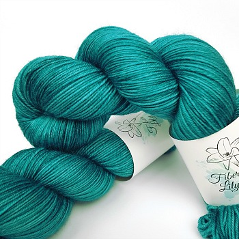 tide hand dyed yarn by Fiber Lily hand dyed yarn Australia teal coloured wool for knitting and crochet