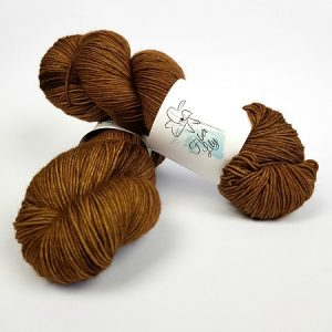 Woodlands tonal brown hand dyed yarn by Fiber Lily Australia