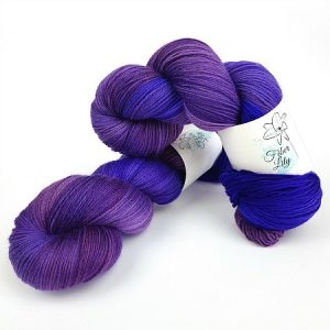 Nebulosity purple luminance hand dyed yarn Australia Fiber Lily 1