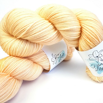 Calico cream neutral hand dyed yarn wool by Fiber Lily Australia semi solid tonal colourway for knitting and crochet