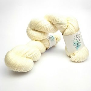 bare white hand dyed yarn by Fiber Lily Australia for knitting and crochet