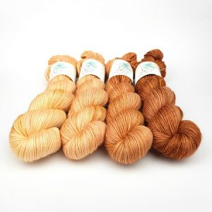 Caramel Melt Petite Pack Hand Dyed Yarn by Fiber Lily Australia for knitting and crochet