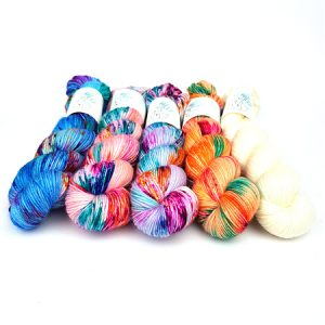 Fleur Petite Pack Hand Dyed Yarn by Fiber Lily Australia wool for knitting and crochet