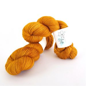 Bees Knees Yellow Hand Dyed Yarn by Fiber Lily Australia knit crochet wool