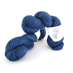 Cobalt Blue Hand Dyed Yarn by Fiber Lily Australia knit crochet wool
