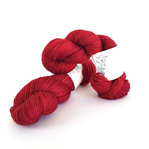 Elemental Mistress Red Hand Dyed Yarn by Fiber Lily Australia knit crochet wool