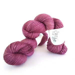 Mauve Purple Hand Dyed Yarn by Fiber Lily Australia knit crochet wool