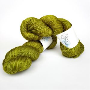 Olive green hand dyed yarn by Fiber Lily Australia knit crochet wool