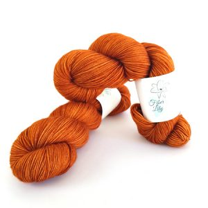 Rust Orange Hand Dyed Yarn by Fiber Lily Australia knit crochet wool
