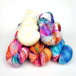 Fleur Pack hand dyed yarn by Fiber Lily Australia knit crochet wool