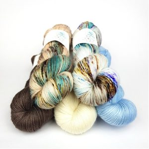 Skipping Stones Pack hand dyed yarn by Fiber Lily Australia knit crochet wool