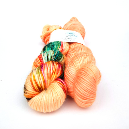 Petite Pair Polly and Tang Hand Dyed Yarn by Fiber Lily Australia knit crochet wool