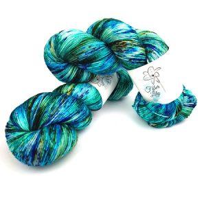 Crazy Blue Ltd. Ed Hand Dyed Yarn by Fiber Lily Australia knit crochet wool 1