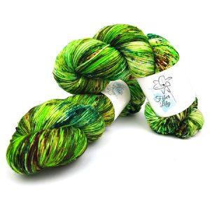 Crazy Green Ltd. Ed Hand Dyed Yarn by Fiber Lily Australia knit crochet wool 1