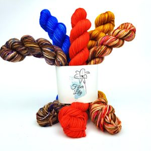 Yarnling Bundle 67 by Fiber Lily Hand Dyed Yarn Australia mini skeins multiple colours